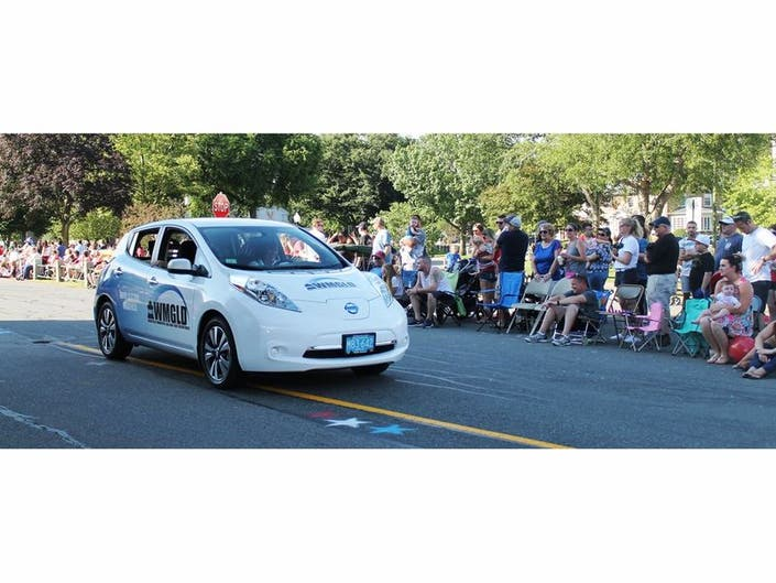 The Wakefield Munil Gas Light Department S 2017 Nissan Leaf Electric Vehicle Was Seen At