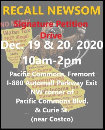RECALL GAVIN NEWSOM Signature Petition Drive