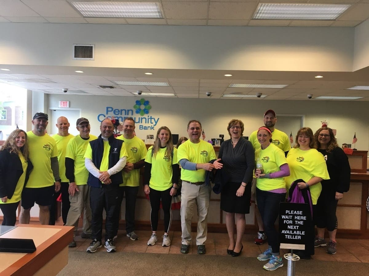 Penn Community Bank Team Members Walk from Quakertown to