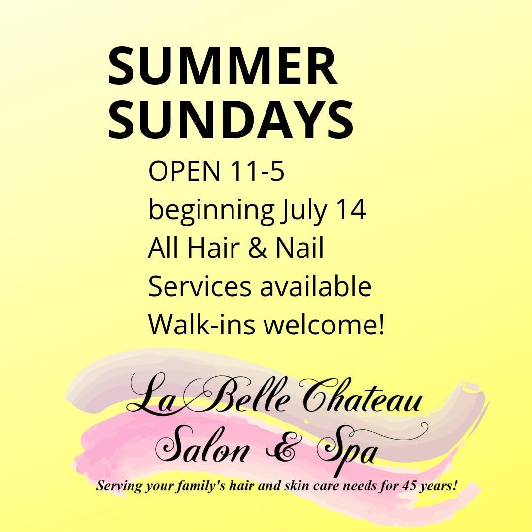 Jul 14 | Hair & Nail Salon Opens Sunday, July 14