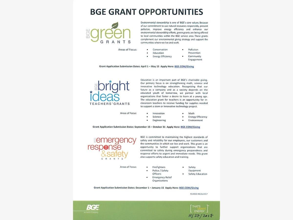 BGE Grant opportunities