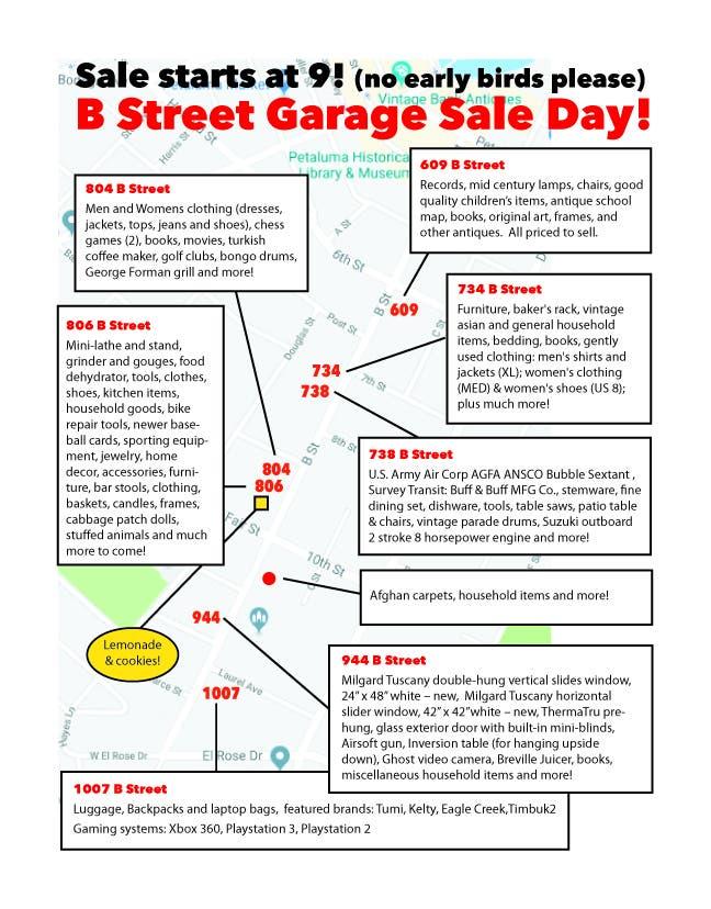 Jun 22 | B Street Garage Sale Day - Saturday 6/22 - 9am to