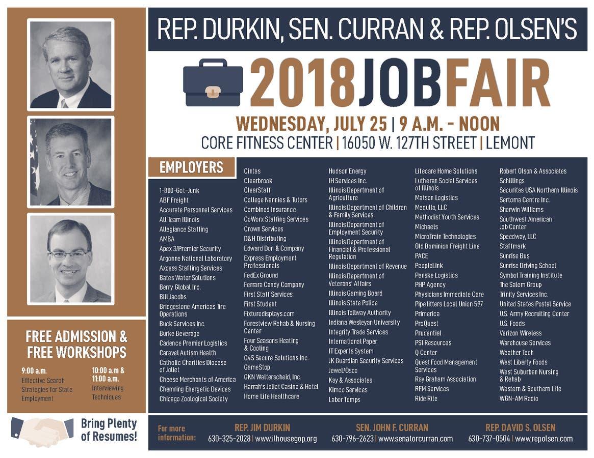 Durkin Curran And Olsen To Host Fourth Annual Jobs Fair