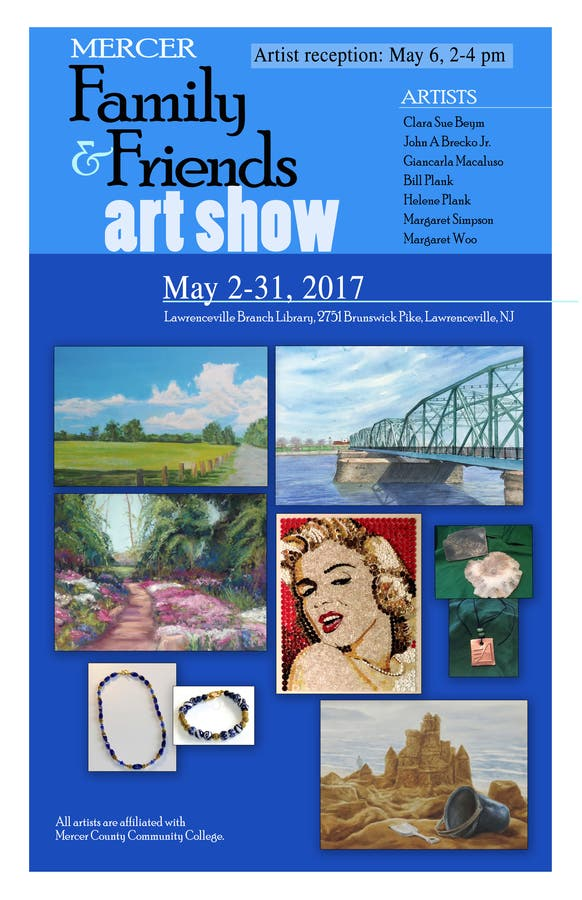 Mercer Family and Friends 2017 Art Show In Lawrenceville