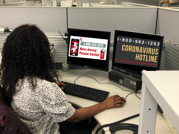 The New Jersey Poison Control Center (1-800-222-1222) and the NJ COVID-19 Information Hotline (1-800-962-1253)