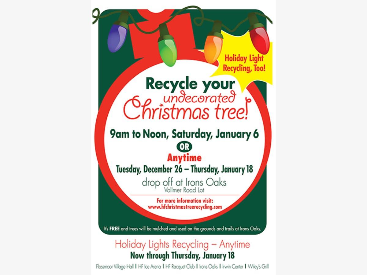 Recycle Christmas Lights.Christmas Tree Holiday Light Recycling Program Homewood