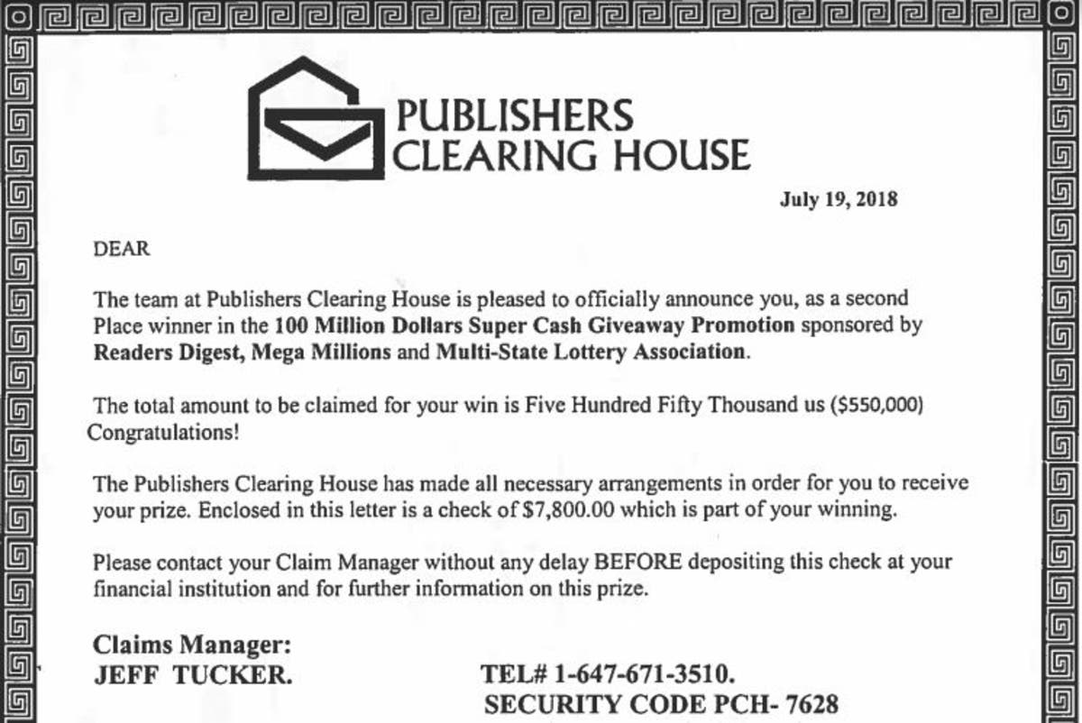 Publishers Clearing House' Scam Warning Issued By Darien Police