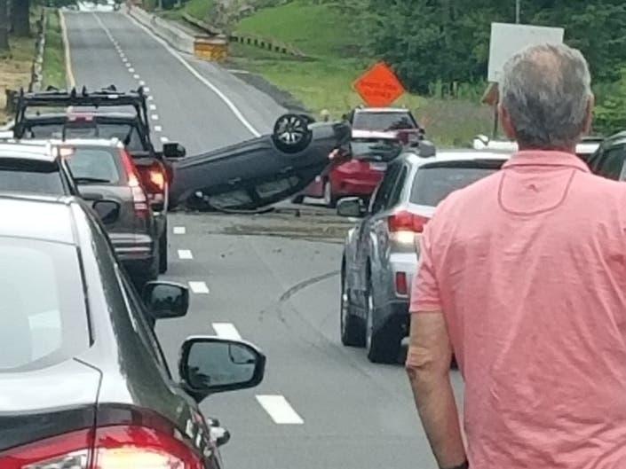 Rollover Crash Reported On Merritt Parkway In Westport