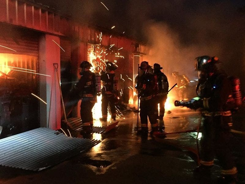 Firefighters Extinguish Fire At Fremont Mini Storage