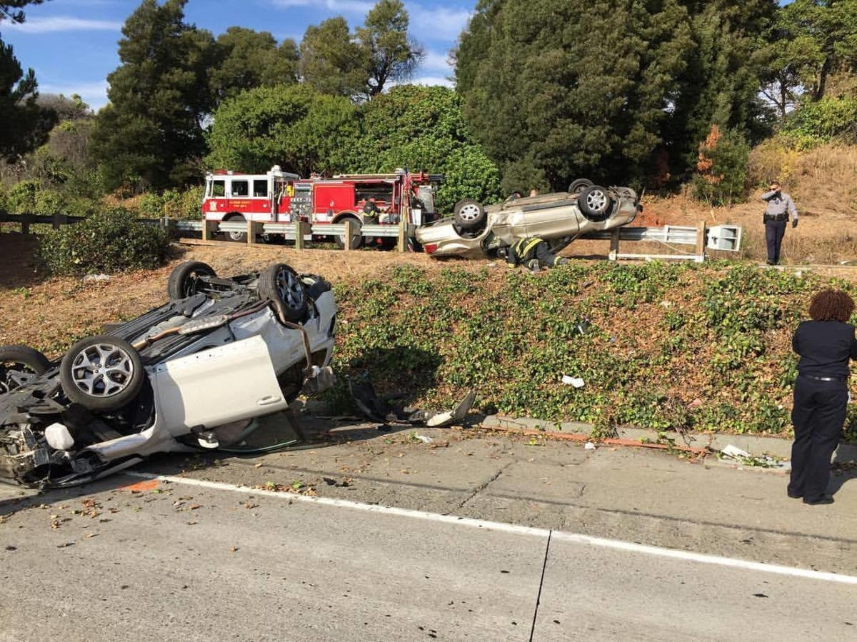 2 Vehicles Roll Over In I-580 Crash | Castro Valley, CA Patch