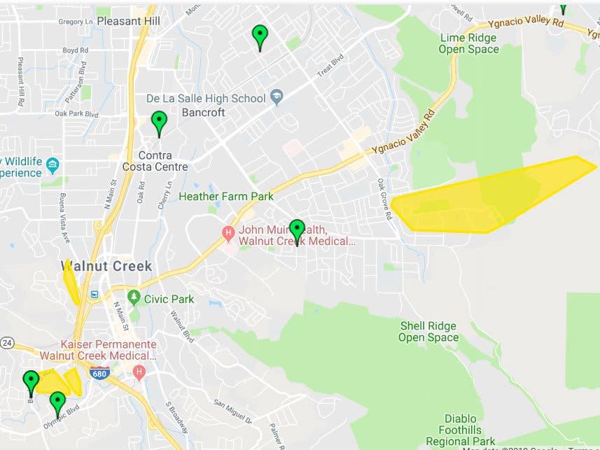 Berkeley Power Outage Map.Power Back On In Walnut Creek Thousands Not As Lucky Walnut Creek