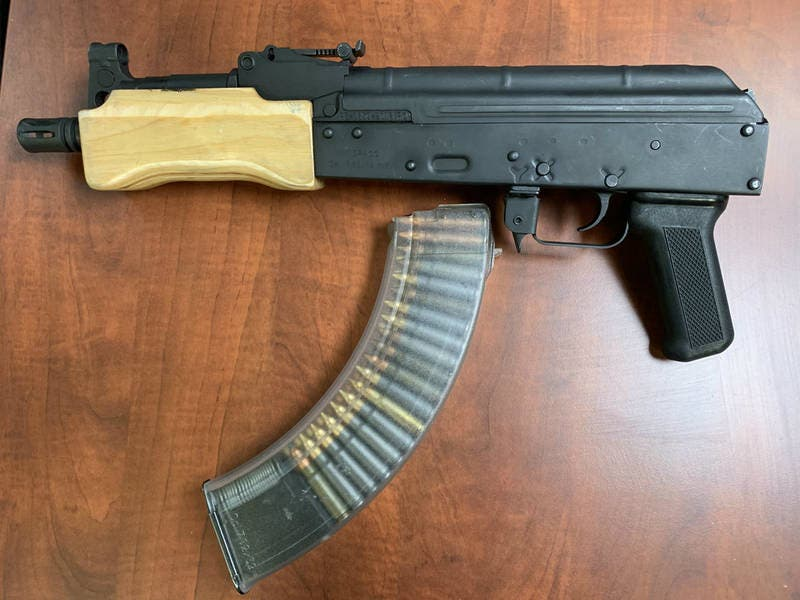 Assault Weapon Seized As Cops Arrest Felon