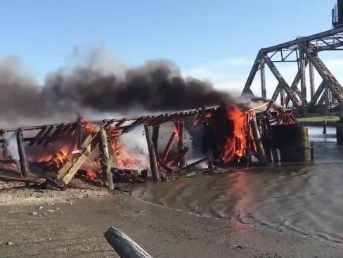 Train Trestle Fire; Man Bloodied: Fremont, East Bay Police Logs