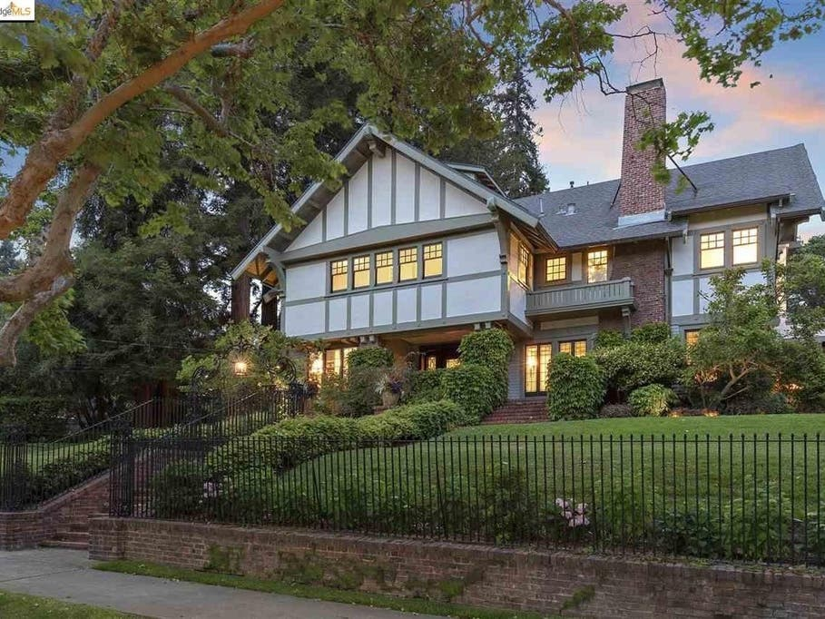 Gated Piedmont Estate On An Acre: $6.6M