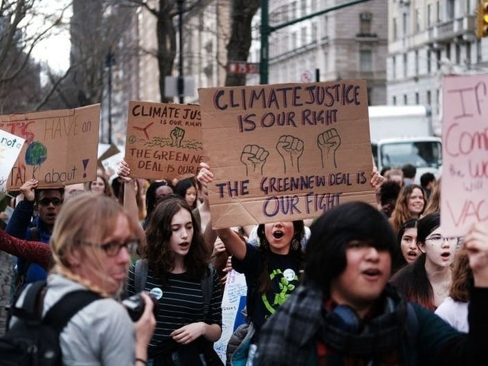 A massive Global Climate Strike is set for Friday. Above, students march for climate action in New York City on March 15.
