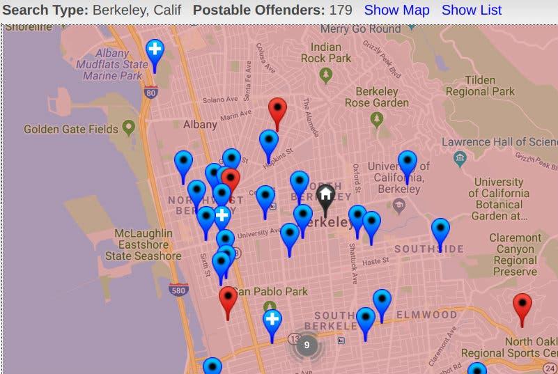 virginia sex offender halloween law in Berkeley