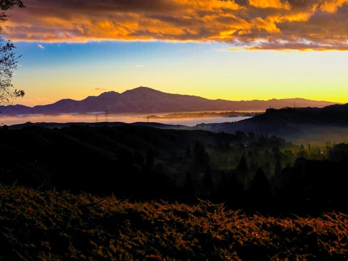Clouds Frame Mount Diablo Sunrise: Photo Of The Day