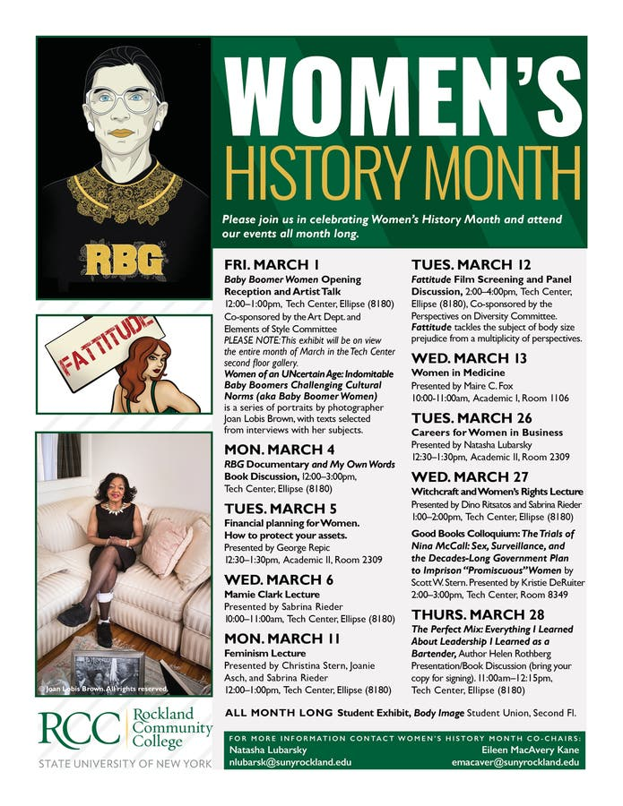 Rcc Calendar 2019 RCC Celebrates Women's History Month | Nanuet, NY Patch