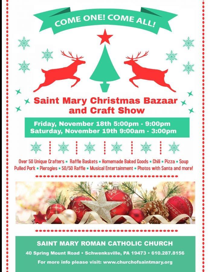 Christmas Bazaar Near Me.Saint Mary Christmas Bazaar And Craft Show Perkiomen