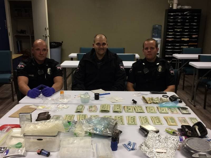 Meth, Hundreds Of Pills Seized During Traffic Stop