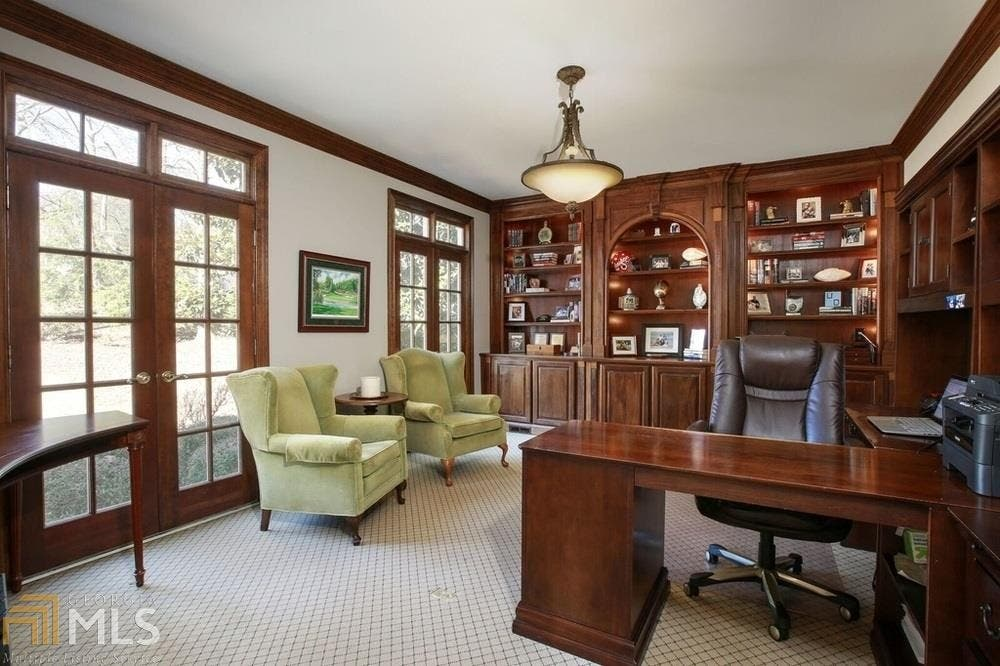 Executive Home With Italian Marble, Pool, Library, Covered