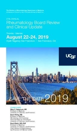 Aug 23   Rheumatology Board Review and Clinical Update   San