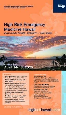 Dec 31 | High Risk Emergency Medicine 2020 | Honolulu, HI Patch