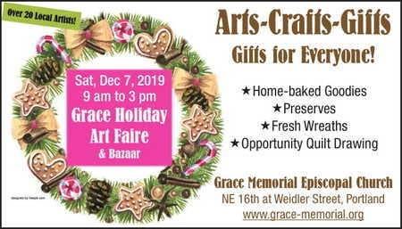 Portland Christmas Bazaar 2019.Dec 31 Grace Holiday Art Faire And Bazaar Portland Or Patch