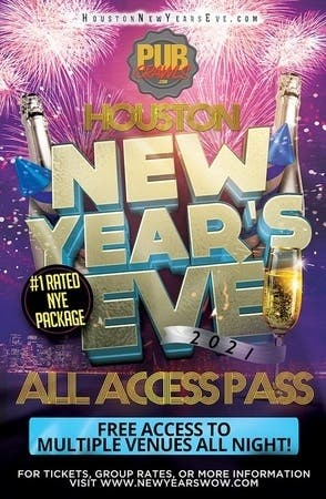 Dec 31 | New Year's Eve All Access Bar Crawl Pass Houston 2021 | Houston, TX Patch