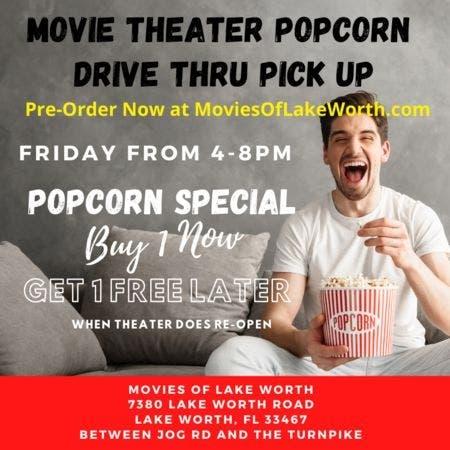 May 22 Popcorn Drive Thru Pick Up West Palm Beach Fl Patch