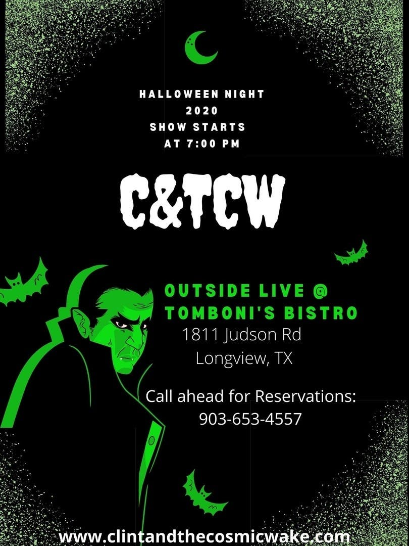 Halloween Shows Waco Tx 2020 Oct 31   Clint and the Cosmic Wake LIVE on Halloween at Tomboni's