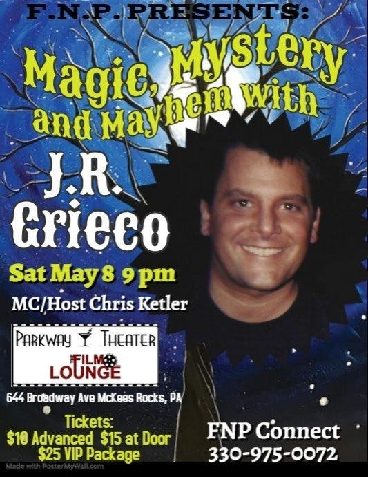Magic, Mystery and Mayhem with Magician JR Grieco