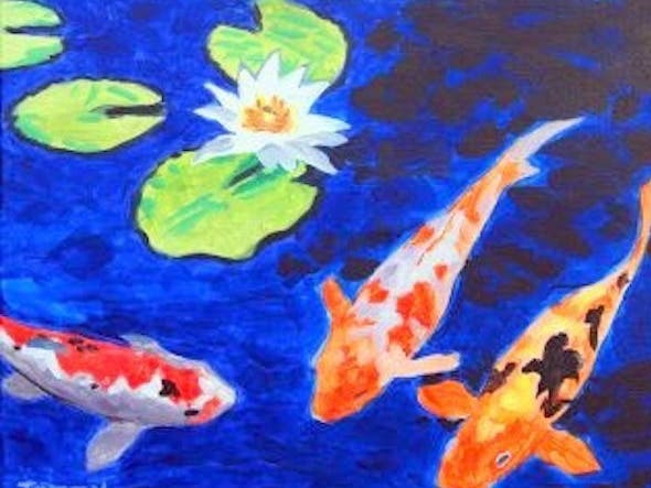 Aug 14 paint night koi pond danville ca patch for Koi pond how to