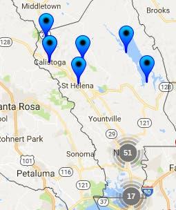Napa Zip Code Map.Napa County Halloween Sex Offender Safety Map 2017 Napa Valley Ca
