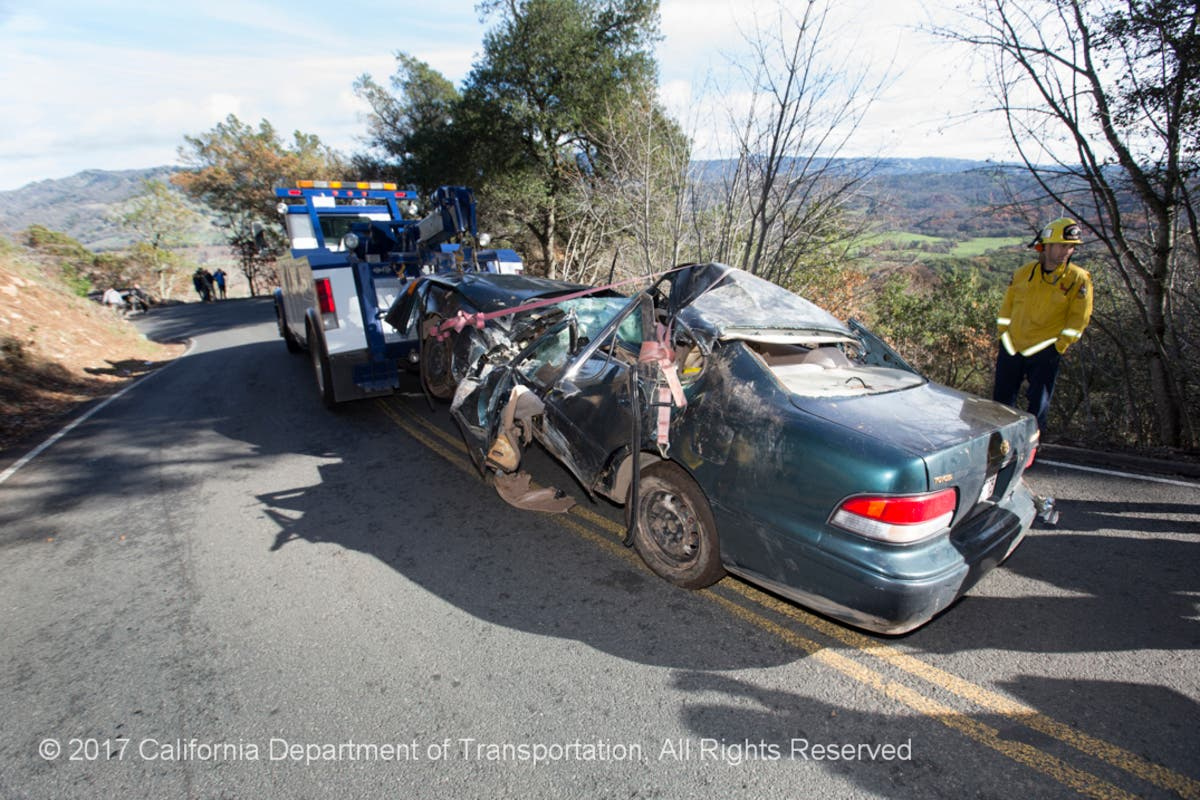 Driver Killed In Napa Co  Hwy 121 Rockslide Was Solano Co