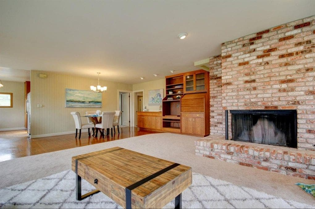Retro Farmhouse Boasts Basement, Big Fireplace: $869K In Petaluma