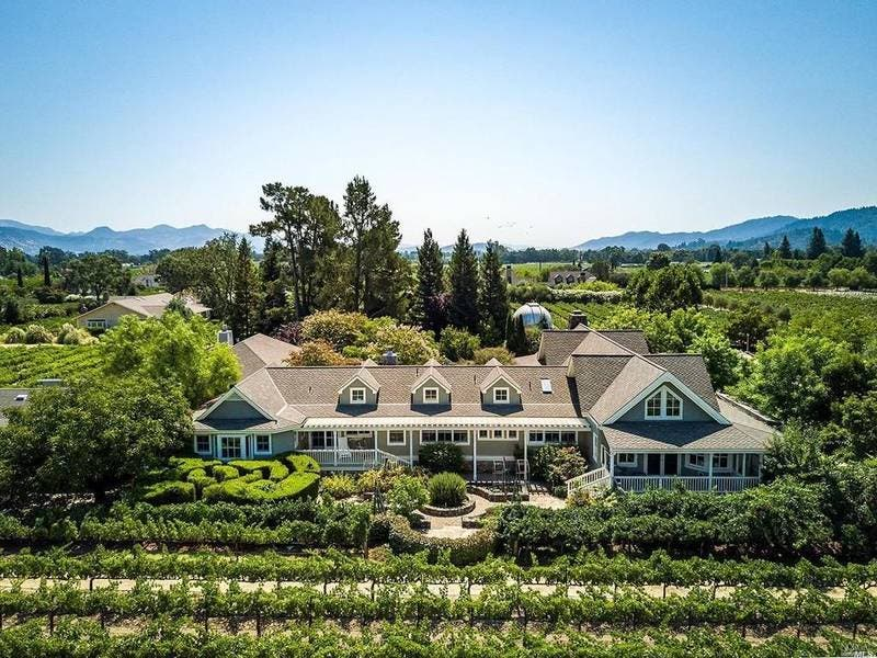 Resort-Style St. Helena Home Has Guest House, Pool, Observatory