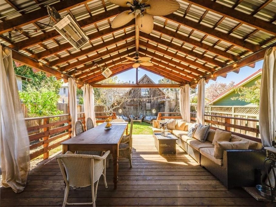Restored Napa Victorian Flaunts Rustic Barn Large Deck