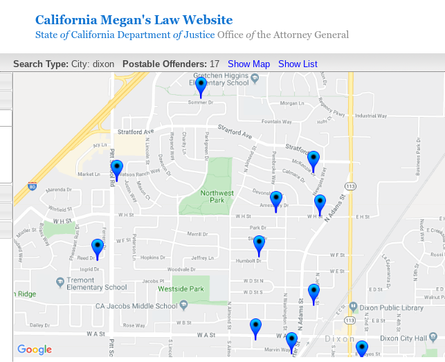 registered sex offenders megans law california