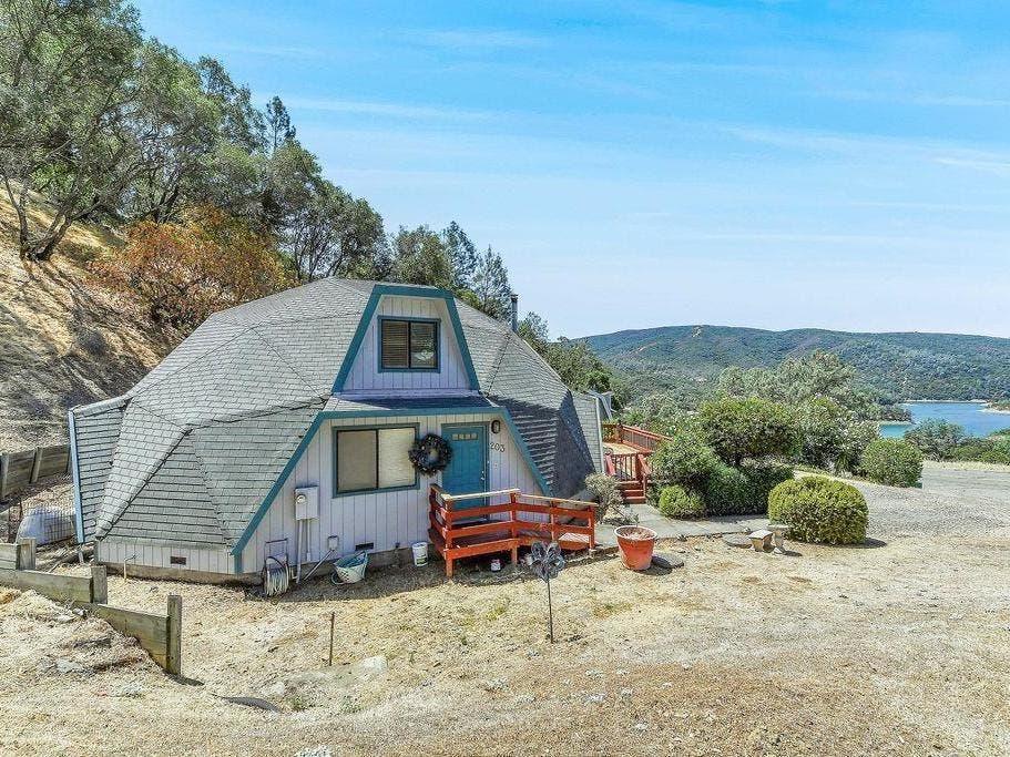 Unique Napa County 'Geo-Dome' Home Overlooks Lake Berryessa