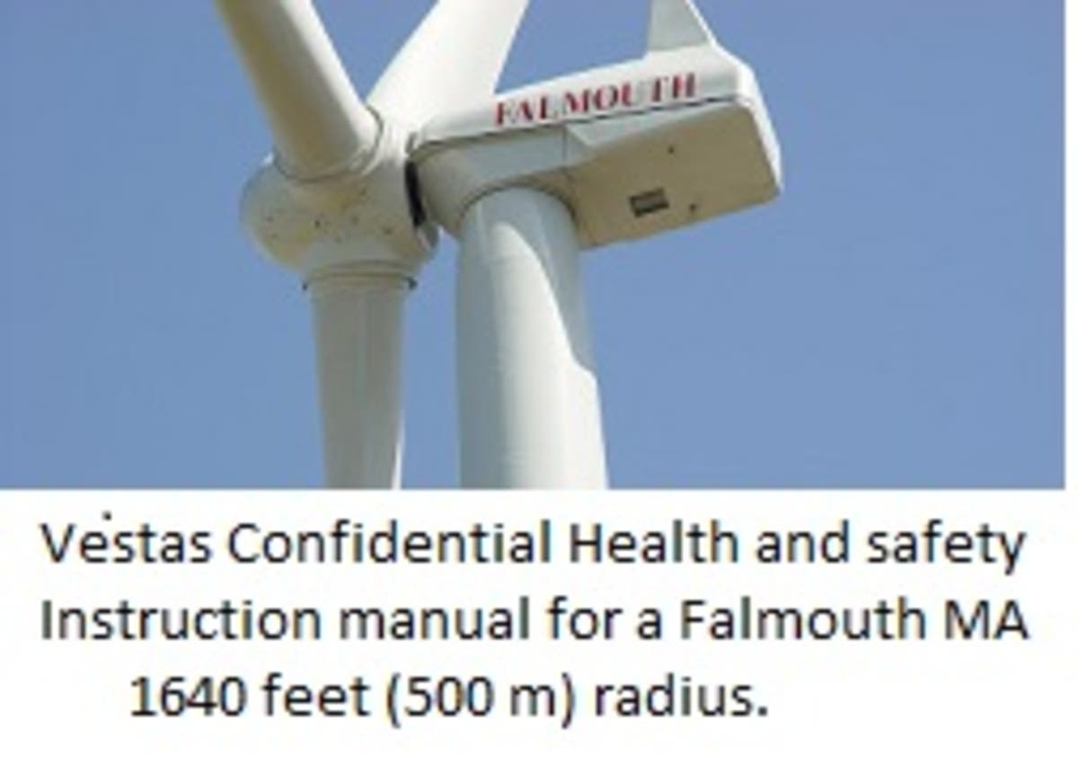 Vestas Wind Turbine Blade Throw Safety Zone 1640 Feet | Falmouth, MA