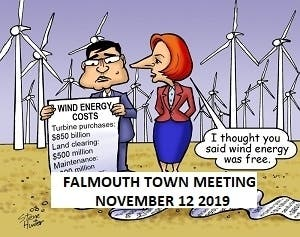 Falmouth Town Meeting Members Spending Millions On Gear Driven Wind Turbines