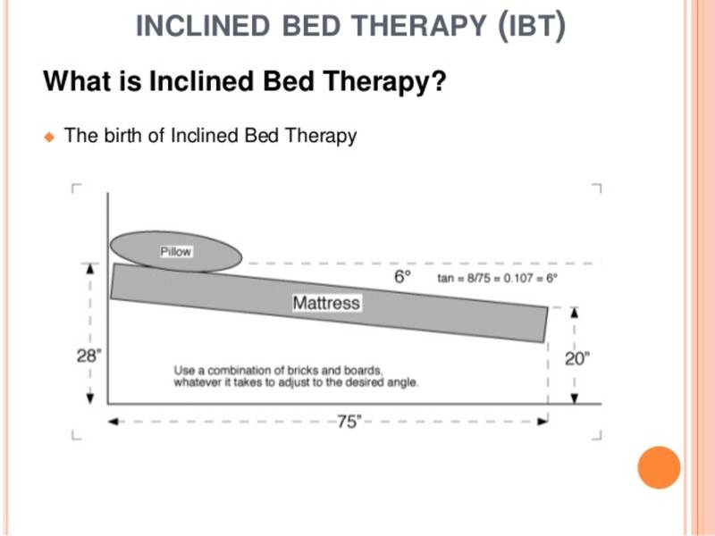 What Is Inclined Bed Therapy Ramsey Nj Patch