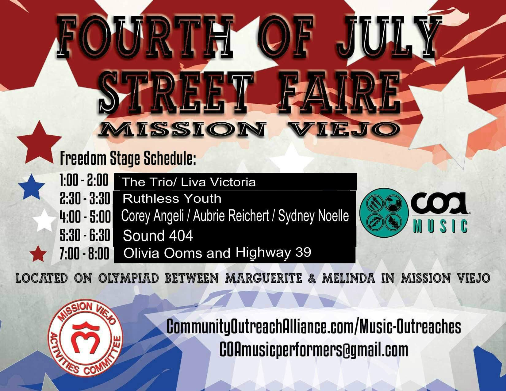 Jul 4 | Fourth of July Street Faire & Fireworks 2019