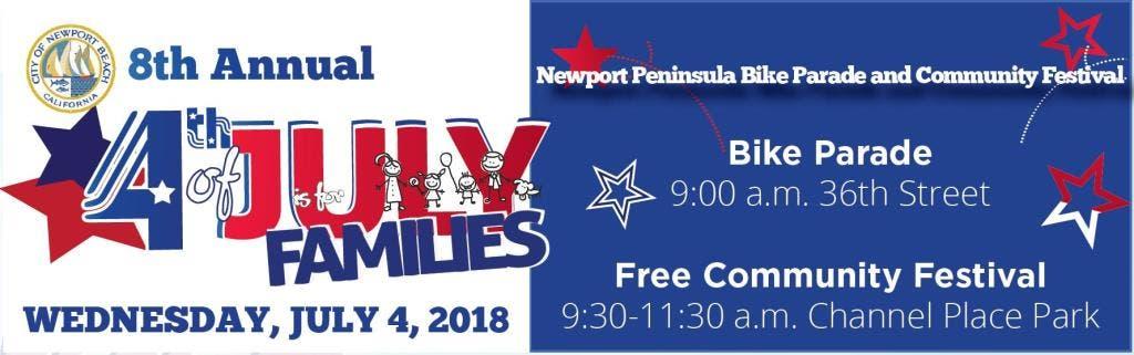 Jul 4   Newport Peninsula Bike Parade & July 4th Fest 2019