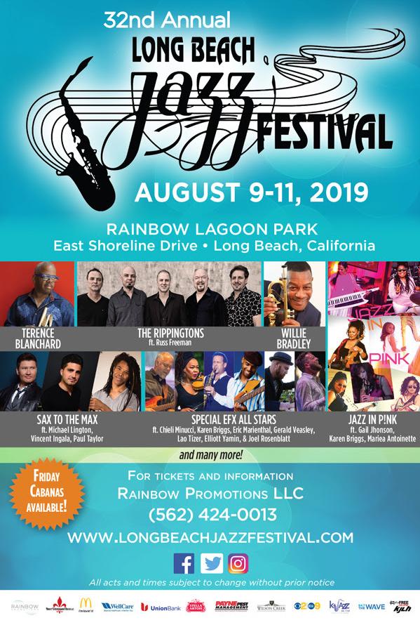 Aug 10   Annual 3-Day Jazz Festival 2019: Rainbow Lagoon