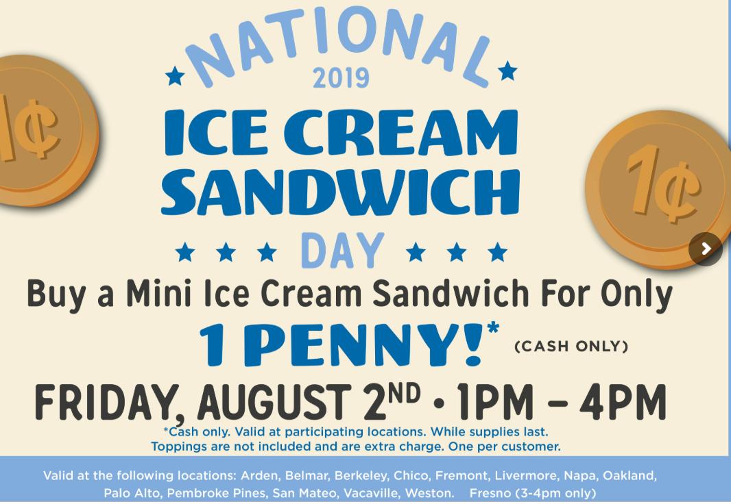 1-Cent Ice-Cream Sandwich: When & Where To Score One In