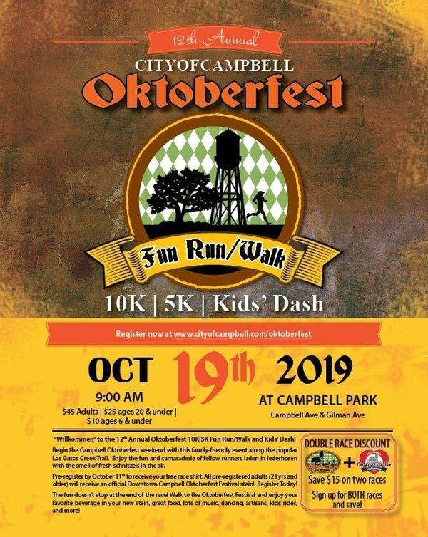 Online Sign-Ups Open: Oktoberfest Fun Run/Walk 2019: Campbell