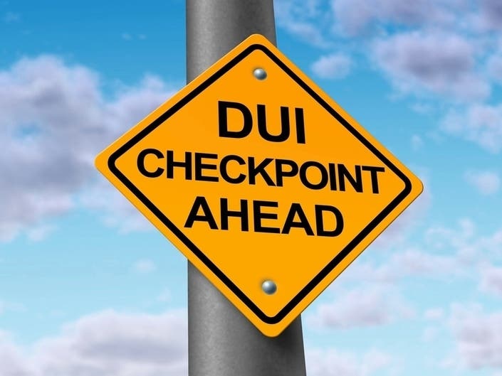 16 Arrested/Cited At Area DUI Checkpoint