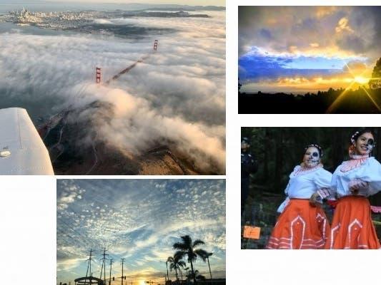 Splendid Sunsets; Dia de los Muertos: CA In Photos